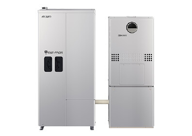 Fuel cell cogeneration system for residential use