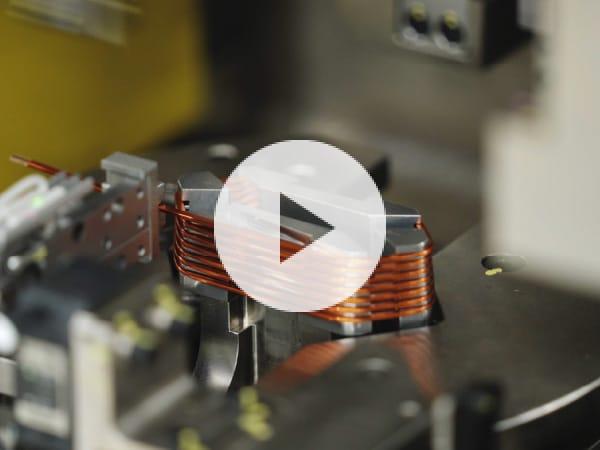 High-density coil winding machine for motor